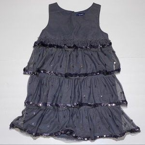Old Navy small gray kids dress with sequins 228B9